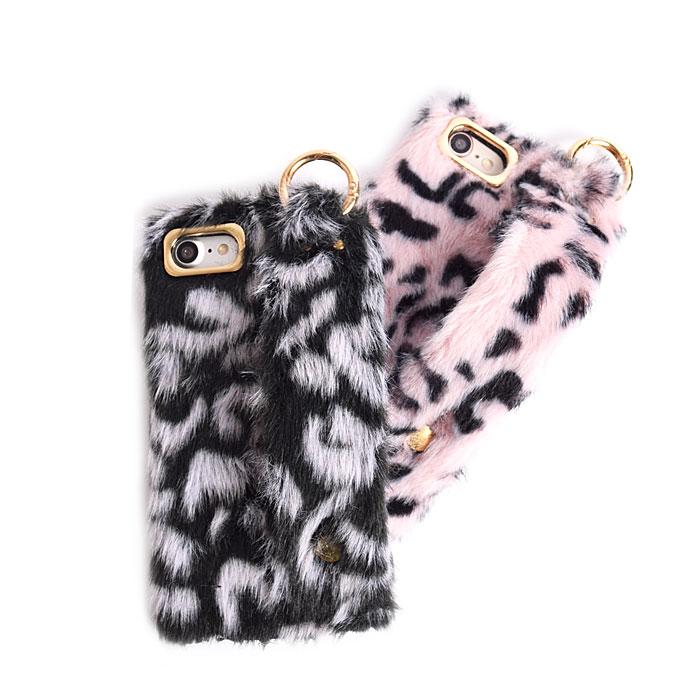 [スマホケース/iPhoneケース]【Cute Leopard fur Phone Case】レオパード・ヒョウ柄・もこもこ・ふわふわ・ファー・フェイクファー・ハンドホルダー・iphone6・iPhone6s・Plus・iphone7・iPhone8/SE・iphoneX・XS[18A]■メール便で送料無料■[M便 1/2][YP3]