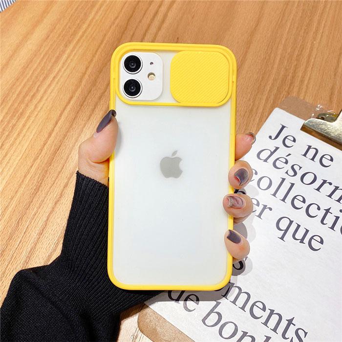 [スマホケース/iPhoneケース]スライド式 カメラレンズ保護 レンズプロテクト マット シンプル 無地 半透明 iPhone11Pro iPhone11ProMax 携帯電話ケース■メール便で送料無料■[M便 1/3][YP2]