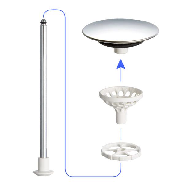 排水栓(ヘアーキャチャー付)KV用