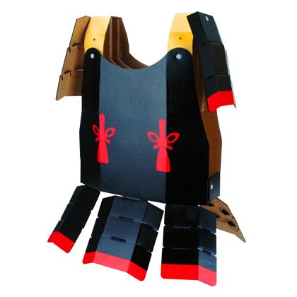 甲冑 鎧 hacomo 玩具 おもちゃ 組立式 工作 なりきり ダンボール 小学生  コスプレ