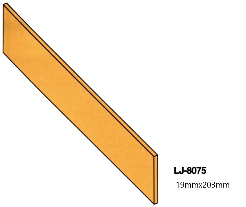 輸入階段材 L.J.スミス ライザー(蹴込み板) 木製 レッドオーク 無塗装 LJ8075-8