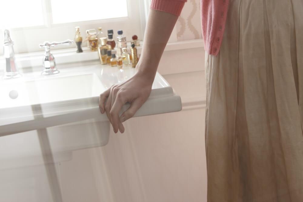 KOHLER 洗面用シンク ぺディスタル トレシャム K-2844-8-0 ホワイト 取付金具付き W610xD495xH879mm