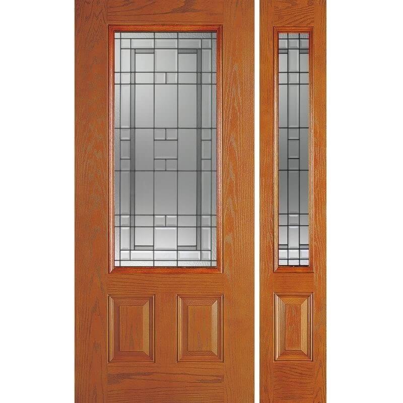 輸入ファイバーグラス製ドア ディスティンクション外部ドア 高耐久・高断熱仕様 LEXINGTON-30/12 W908xH2007mm/W349xH2013mm ※ドア枠込み・塗装サービス有り