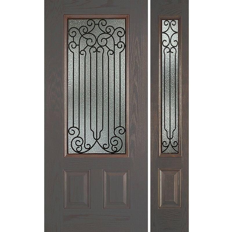 輸入ファイバーグラス製ドア ディスティンクション外部ドア 高耐久・高断熱仕様 PINEHURST-30/12 W908xW2007mm/W349xH2013mm ※ドア枠込み・塗装サービス有り