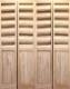 【パインドア】木製折戸 クリアパイン 1424P-6068 レール・金物・木製取手付 W1819xH2012mm ※ドア枠込・塗装サービス有り