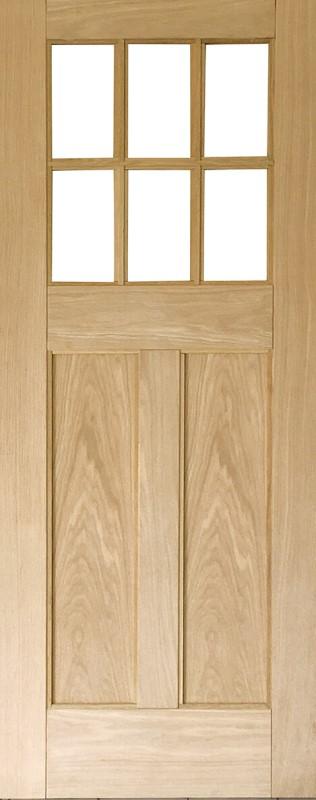 輸入木製室内ドア ジェルドウェン 644W ホワイトオーク 格子ガラスドア W712xH2032mm ※ドア枠込・塗装サービス有り