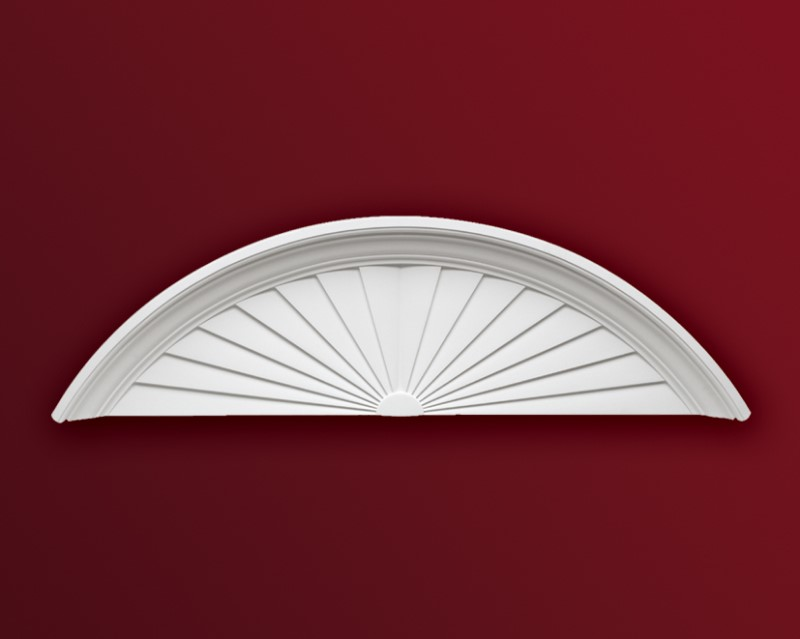 ウレタン製装飾材 ファイポン サンバーストペディメント SP56 巾1448x高さ428x突出114mm