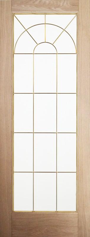 【2020年9月発売】輸入木製室内ドア ジェルドウェン 1590W ホワイトオーク デザインガラスドア W762xH2032mm ※ドア枠込・塗装サービス有り