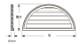 ウレタン製装飾材 ファイポン ハーフラウンドルーバー HRLV32X16 巾813mm x 高さ406mm x 厚み51mm