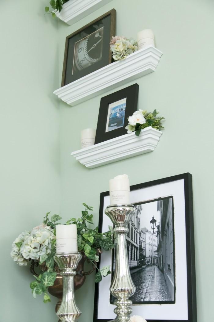 【送料無料】 壁掛け棚 Molding Shelf(モールディングシェルフ)  巾45cm/60cm 石膏ボード壁・木壁対応 DIY取付