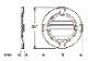 ウレタン製装飾材 ファイポン ラウンドルーバー RLV24TK 巾610mm x 高さ610mm x 厚み54mm