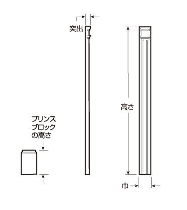 ウレタン製装飾材 ファイポン ピラスター溝付 PIL108 巾114/133/178mm 高さ2743mm 2本1組