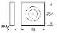 ウレタン製装飾材 ファイポン プリンスブロック ロゼット PB3x3/PB4x4 巾92x高さ92x厚み22/29mm