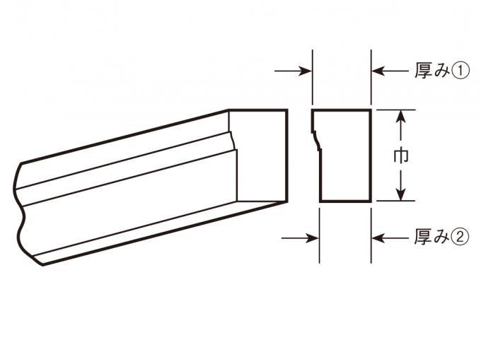 ウレタン製モールディング ファイポン MLDWM182-12 装飾材 ブリックモールド 厚み32mm(27mm) x 巾76mm x 長さ3658mm