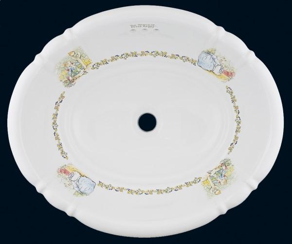 【海外スタイル】洗面ボウル  ピーターラビット™シリーズ PRB2802 503x410mm 約9kg 陶器製