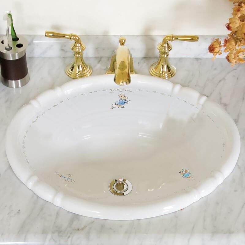 【在庫一掃セール】洗面ボウル  ピーターラビット™シリーズ PRB2801 503x410mm 約9kg 陶器製