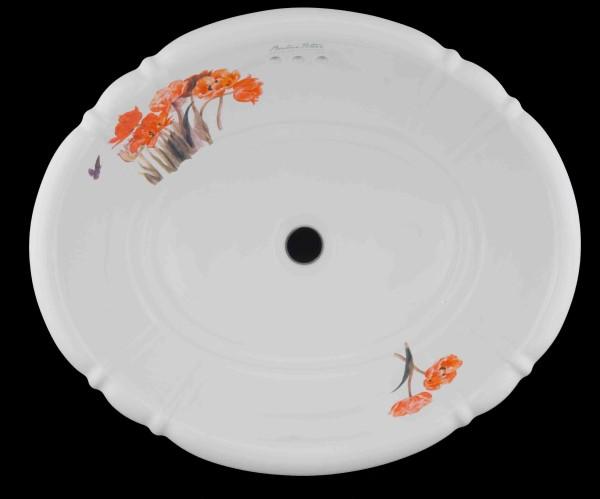 【海外スタイル】洗面ボウル  ビアトリクス・ポター™イングリッシュガーデンシリーズ EGB2701 503x410mm 約9kg 陶器製