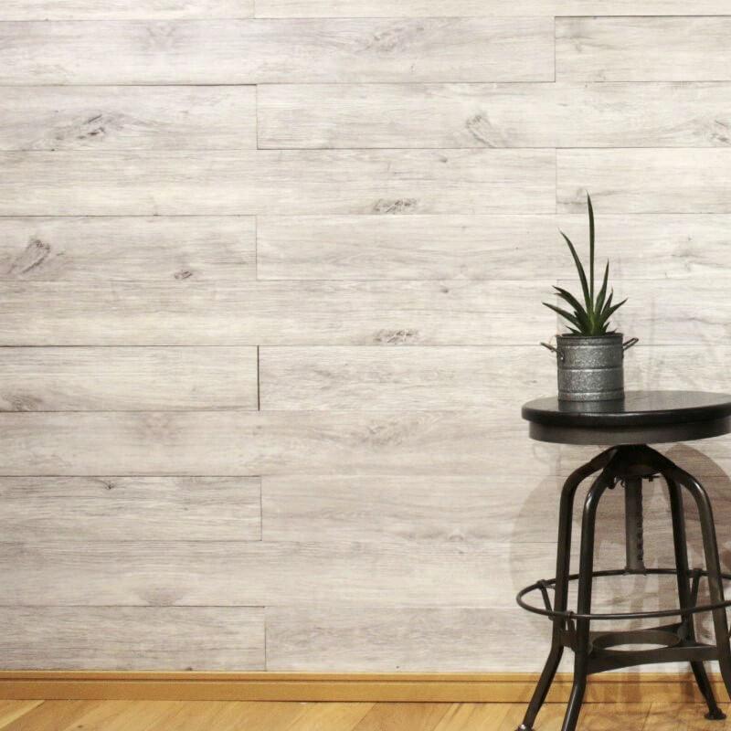 天然木壁パネル ソリデコ OAK WHITE GRAY 4x128x1180mm 1ケース(11枚=1.66m2入り)