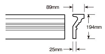 ウレタン製モールディング ファイポン MLD527-12 装飾材 厚み89mm(25mm) x 巾194mm x 長さ3658mm