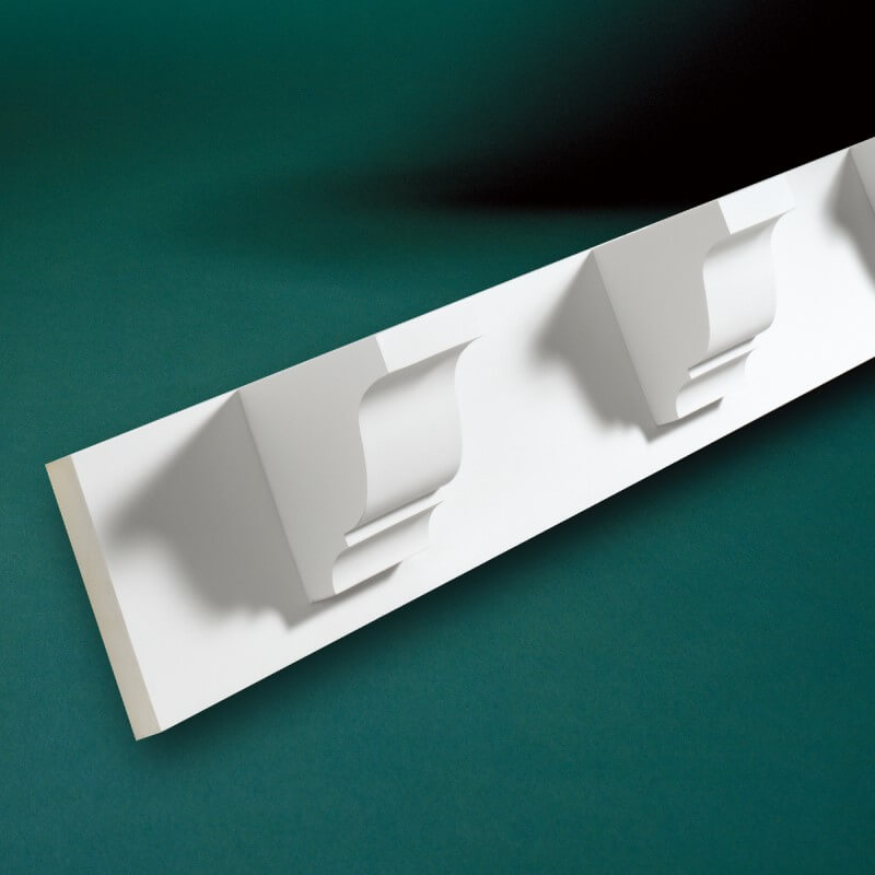 ウレタン製モールディング ファイポン MLD370-8 装飾材 厚み165mm(25mm) x 巾191mm x 長さ2438mm
