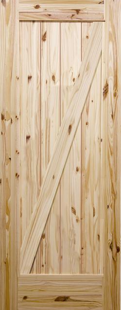 【パインドア】木製室内ドア ノッティーパイン 1033X バーンドアタイプ W813xH2134mm ※塗装サービス有り