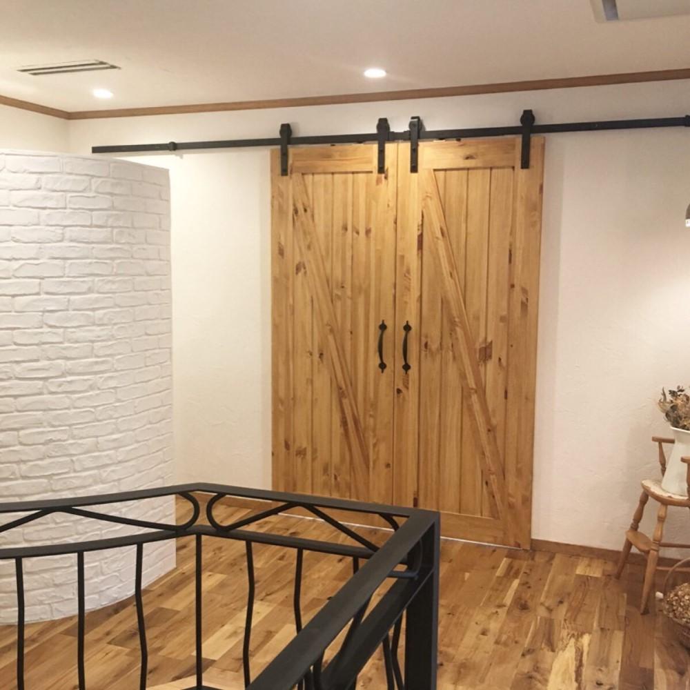 【パインドア】木製室内ドア ノッティーパイン 1033X バーンドアタイプ W915xH2134mm ※塗装サービス有り