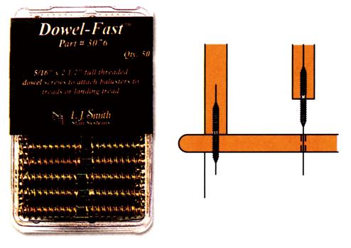 輸入階段材 L.J.スミス ダウェルファーストスクリュー(50本入り) LJ-3076 施工用専用ハードウェア