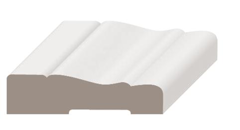 MDFモールディング ケーシング/額縁 MFP356 無塗装/ホワイト塗装 厚さ14.3mm x 幅57mm x 長さ2134mm/3657mm