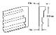 ウレタン製モールディング ファイポン MLD220-12 装飾材 厚み44mm(19mm) x 巾140mm x 長さ3658mm