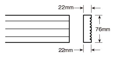ウレタン製モールディング ファイポン MLD205-12 装飾材 厚み22mm x 巾76mm x 長さ3658mm