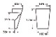ウレタン製装飾材 ファイポン キーストン K6M 上部巾146mm(下部巾102mm) x 高さ178mm x 上部厚み98mm(下部厚み38mm)