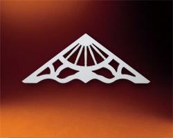ウレタン製装飾材 ファイポン ゲーブルペディメント GP64X32 巾1575x高さ819x厚み25mm