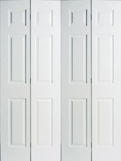 【リーズナブルな輸入ドア】クローゼットドア 6TBF(木目調) レール・金物・木製取手付 W1819xH2007mm ※ドア枠込・塗装サービス有り