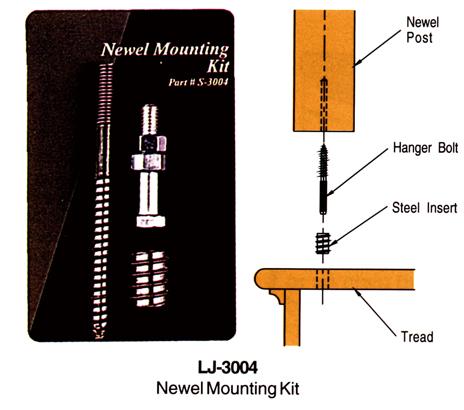 輸入階段材 L.J.スミス ニューエルマウンティングキット LJ-3004 施工用専用ハードウェア