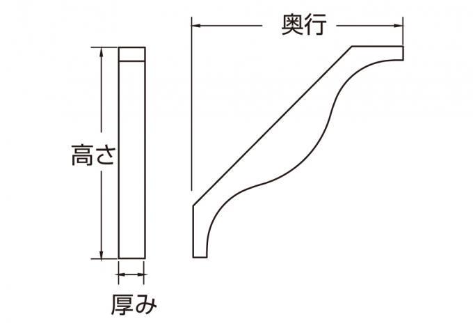 ウレタン製装飾材 ファイポン ブラケット BKT22X22 厚み70mm x 奥行559mm x 高さ559mm