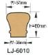 輸入階段材 L.J.スミス ハンドレール 木製 レッドオーク 無塗装 LJ6010 SC 長さ2134/3048mm