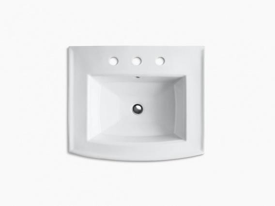 KOHLER 洗面用シンク ぺディスタル アーチャー K-2359-8-0 ホワイト 取付金具付き W608xD519xH895mm