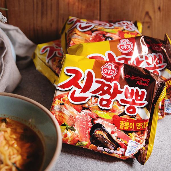 [オットギ] ジンチャンポン 130g×4個入りパック 韓国チャンポンラーメン