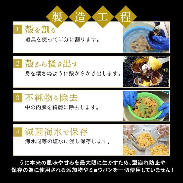 送料込み!利尻・礼文島産 無添加塩水生ウニ(キタムラサキウニ100gx2個)