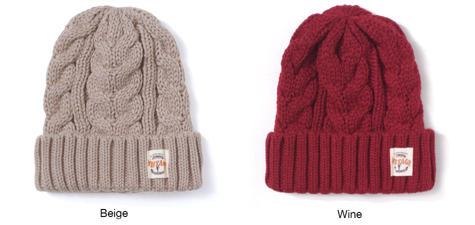【SURF VINTAGE】CABLE KNIT CAP
