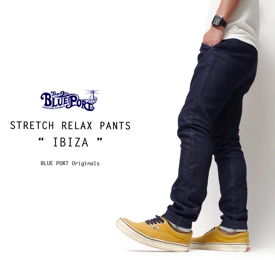"【4/29 0:00-5/11 23:59 10%OFF!】【BLUE PORT】 STRETCH RELAX PANTS ""IBIZA"""