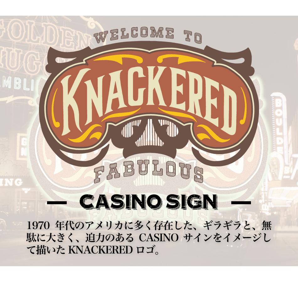 【KNACKERED】CASINO SIGN HEAVY WEIGHT T-SHIRT