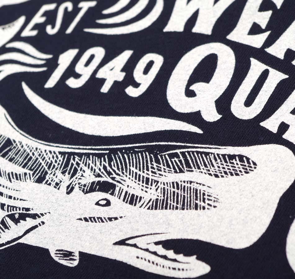 【BLUE PORT】WHALE SIGN HEAVY WEIGHT T-SHIRT