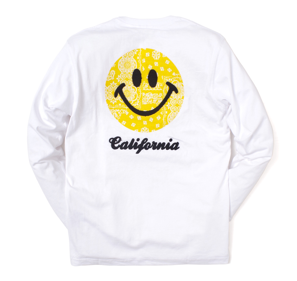【SMILEY FACE】EMBROIDERY POCKET L/S