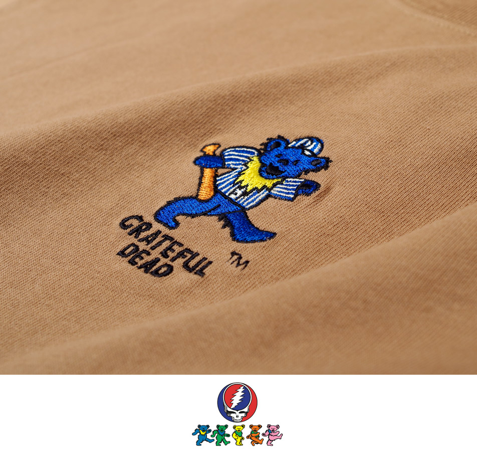 【GRATEFUL DEAD】EMBROIDERY L/S TEE