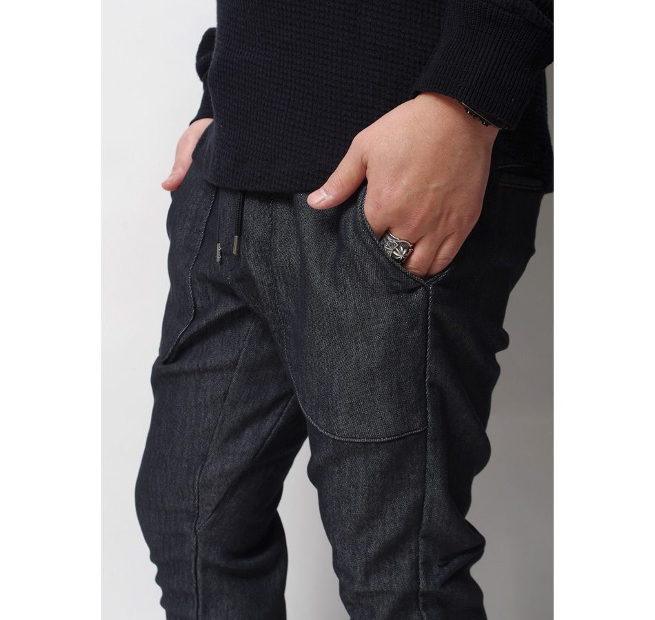 "【4/29 0:00-5/11 23:59 10%OFF!】【BLUE PORT】STRETCH RELAX JOGGER ""CORSICA BK"""