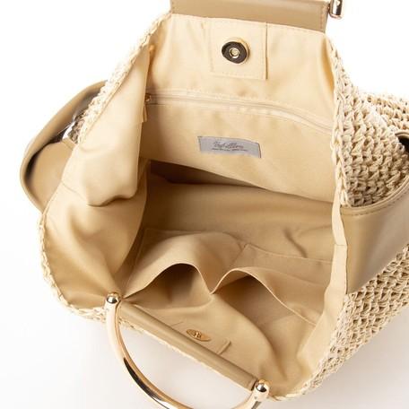 リボンショルダー金手2wayバッグ