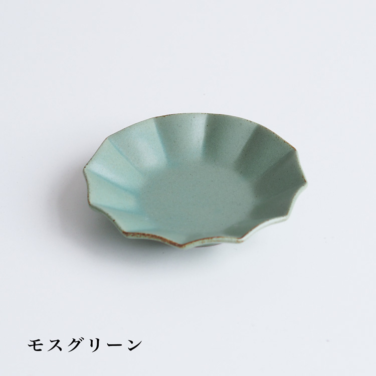 【再入荷】プリーツ 丸小皿