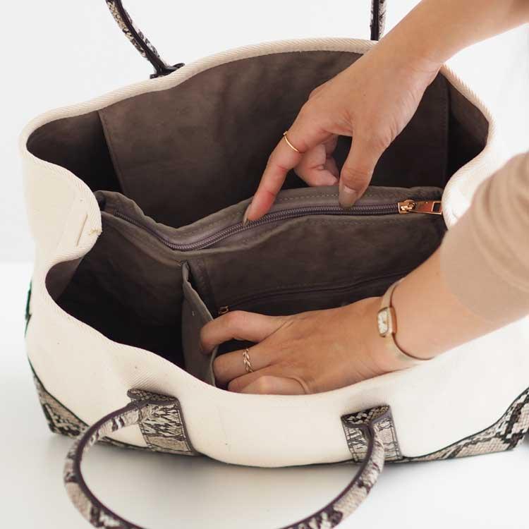 【新色入荷】Lサイズ パーテーションキャンバストートバッグ