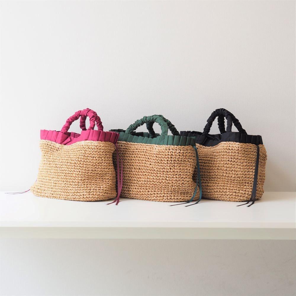 ペーパー手編みフリルトートバッグ
